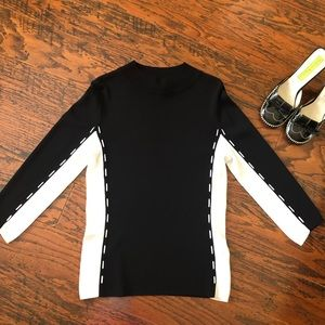 Ziani Couture 3/4 Sleeve Fitted Illusion Sweater